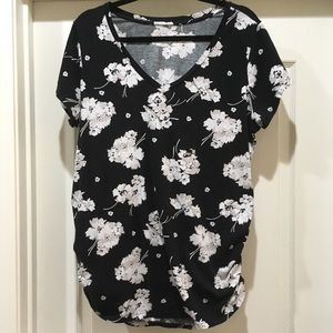 Tops - Maternity Floral Shirt